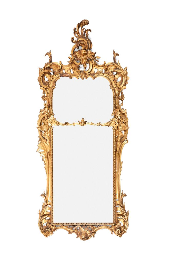 A George II carved giltwood pier mirror, circa 1755