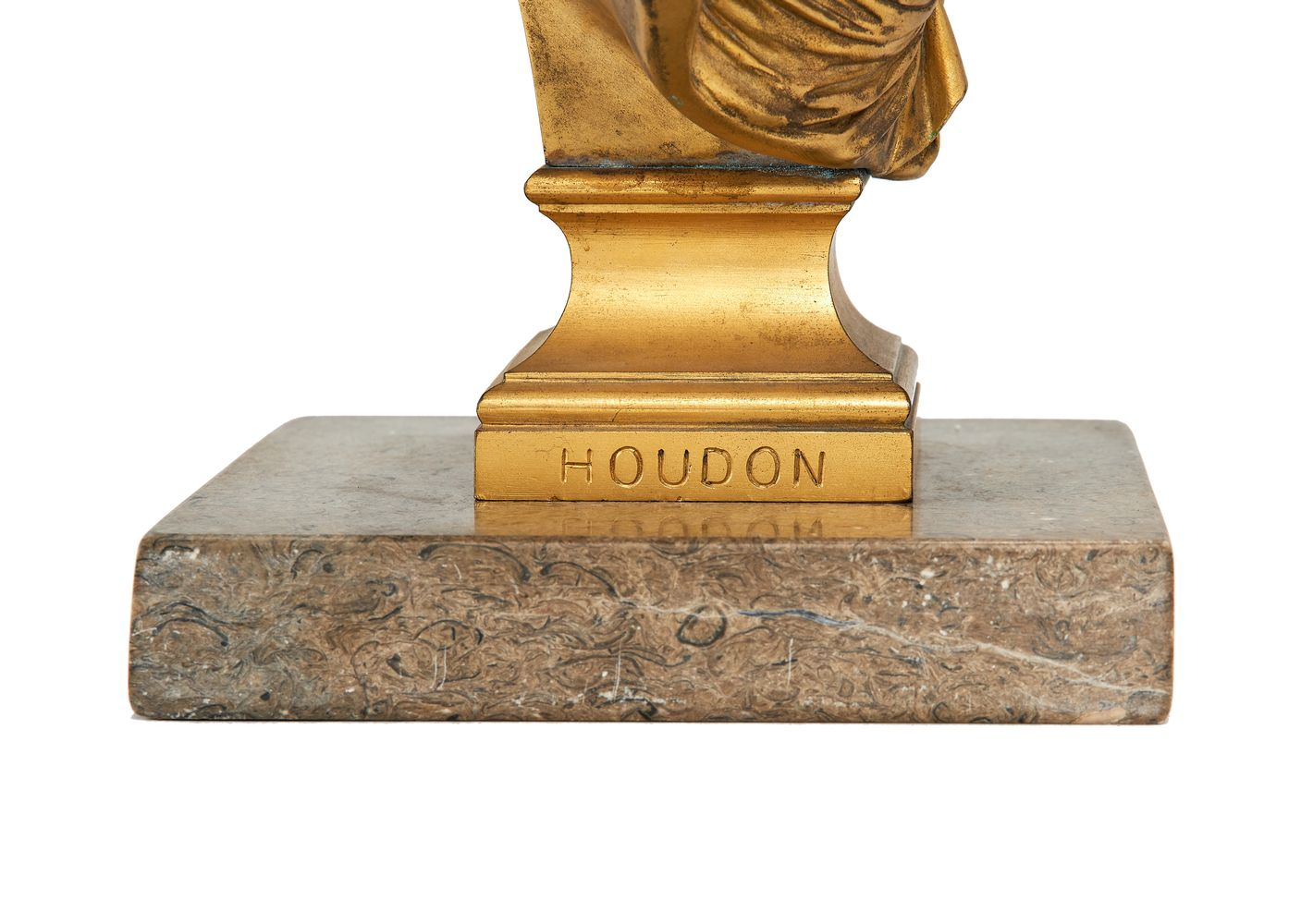 A French gilt bronze bust of Diana the Huntress after Jean-Antoine Houdon (1741-1828) - Image 2 of 2