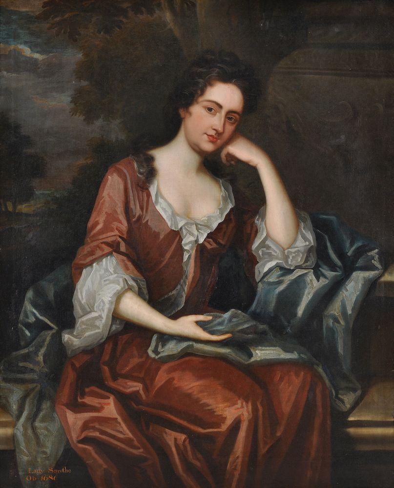 Circle of Maria Verelst (British 1680-1744) Portrait of Lady Smythe, three-quarter-length