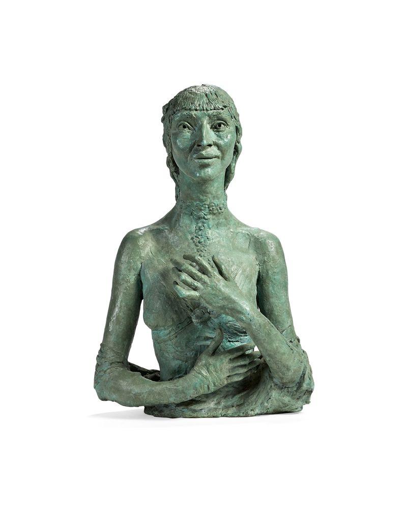 λ Sir Jacob Epstein (British 1880-1959)Fifth Portrait of Kathleen A bronze