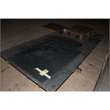 LOT OF RAW MATERIAL: 5' x 12' sheets (3), A36 carbon steel  (Location D)