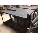 "ROLLING WORKTABLE, 46"" x 60"" surface, 2-tier  (Location D)"