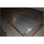LOT OF RAW MATERIAL: 4' x 10' sheets (4), stainless steel, assorted thicknesses  (Location D)