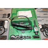 "PUNCH SET, GREENLEE MDL. 7306SB SLUG BUSTER, knock-out punch & hyd. Driver set for 1/2"" to 2"