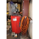 RECIPROCATING TYPE AIR COMPRESSOR, HUSKY, 2-stage, 7 HP motor, 80 gal. vert. air receiver  (Location