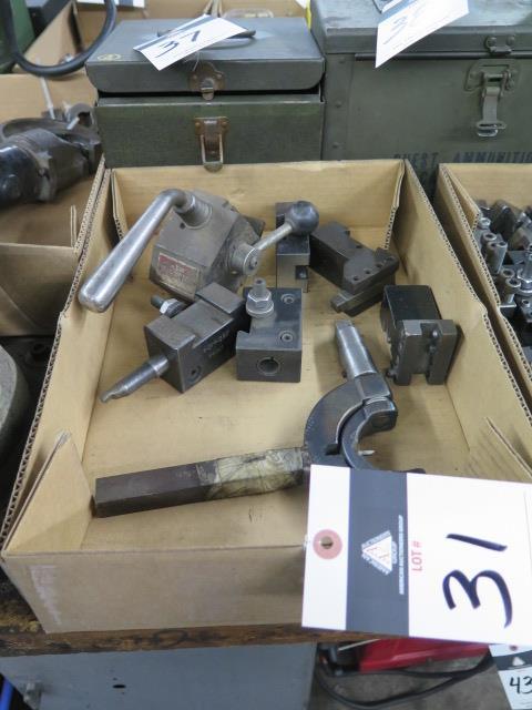 KDK Tool Post w/ Tool Holders and Custom Radii Cutter