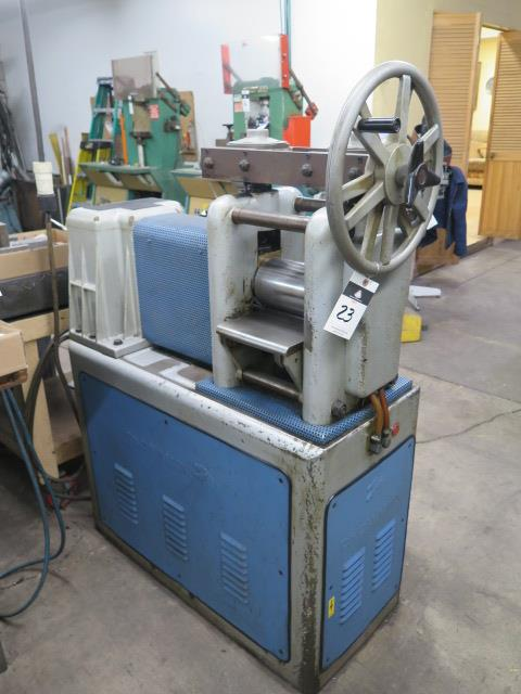 "F.LLi Cavallin mdl. MG20 8"" Rolling Mill w/ Water Cooled Rolls - Image 3 of 9"