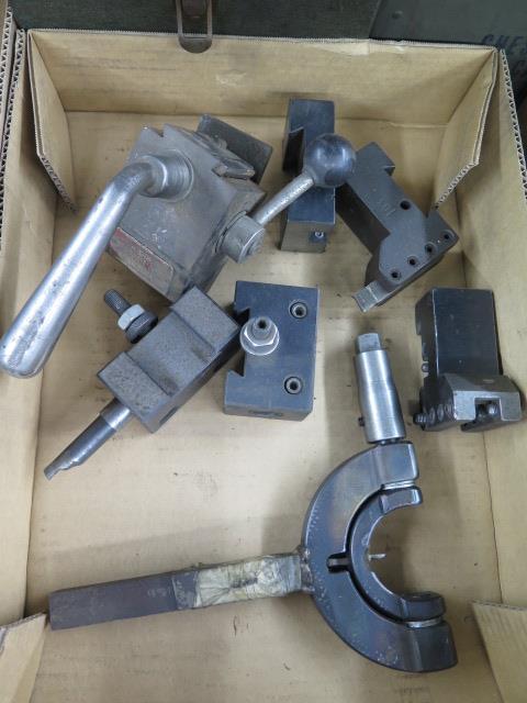 KDK Tool Post w/ Tool Holders and Custom Radii Cutter - Image 2 of 2