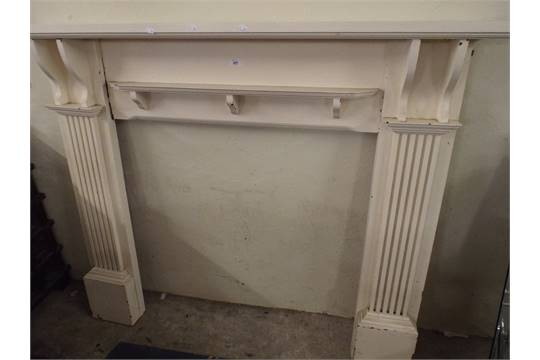 Astonishing A Cream Painted Wooden Fire Surround Download Free Architecture Designs Meptaeticmadebymaigaardcom