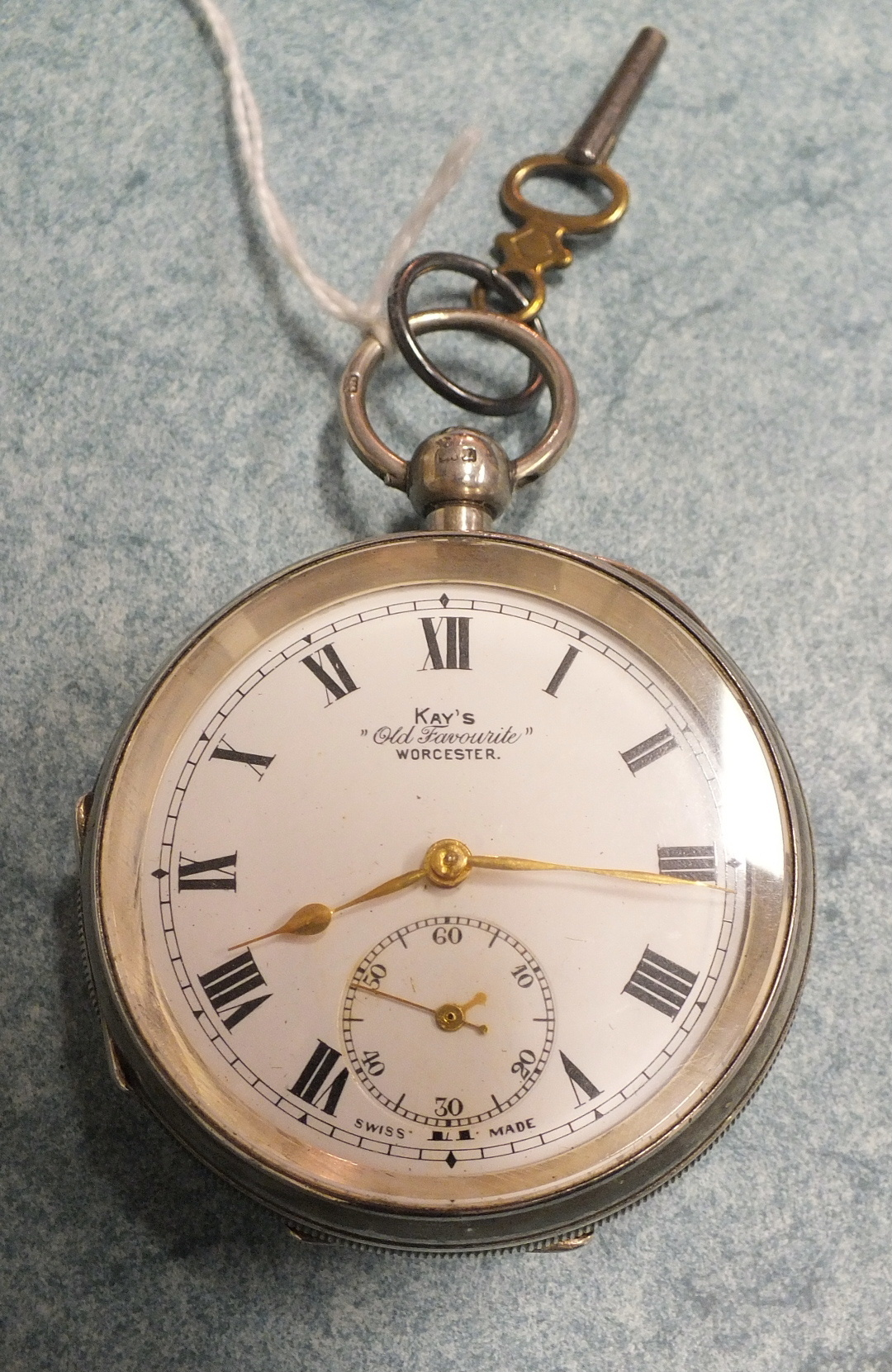 "Lot 285 - A Kays ""Old Favourite"" silver cased open face pocket watch."