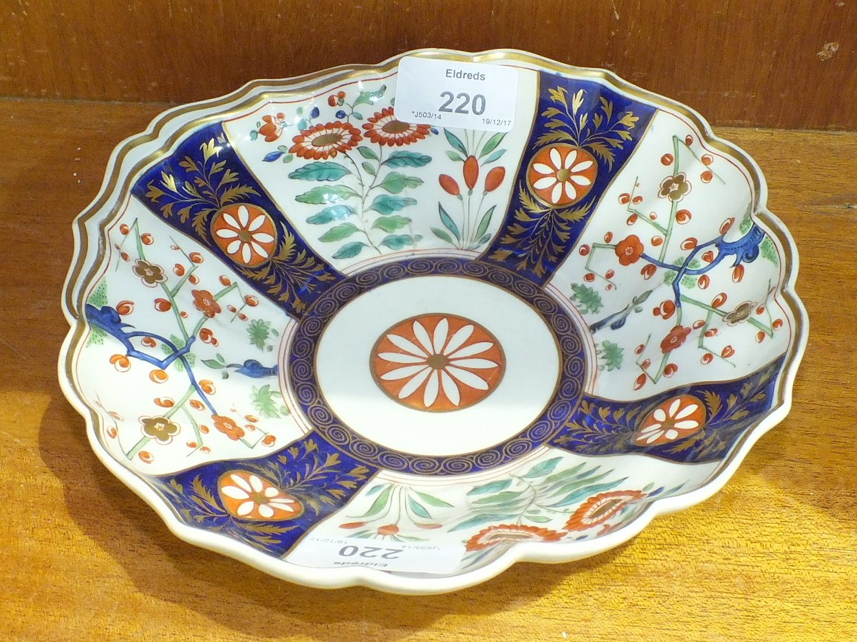 Lot 220 - A Flight, Barr and Barr, Worcester, shell-shaped dish c1810, decorated in the Imari palette, 20cm