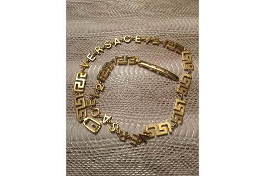 Authentic Versace metal belt