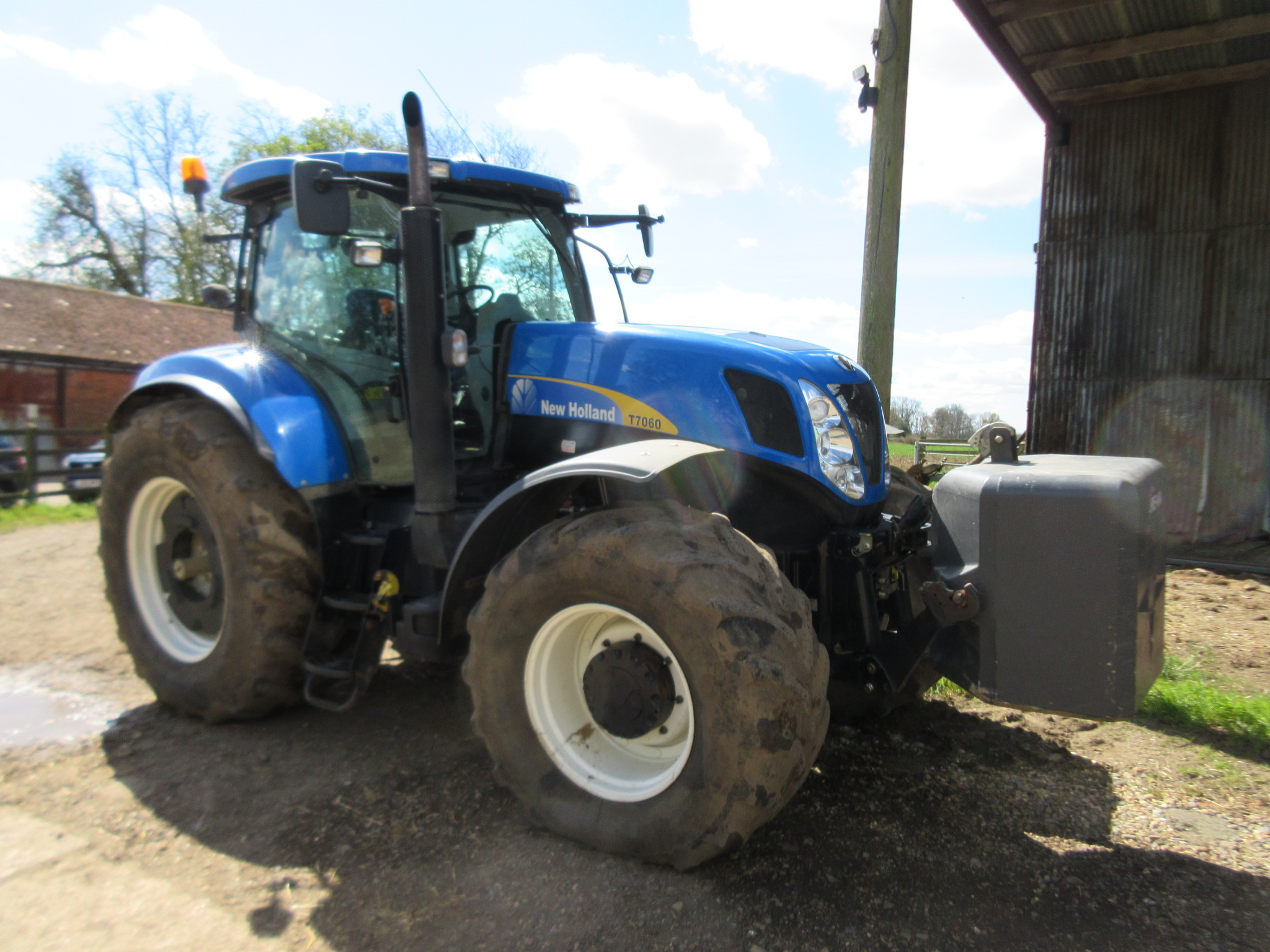 New Holland Tractor Wheel Weights : New holland t kph wd tractor fitted with front
