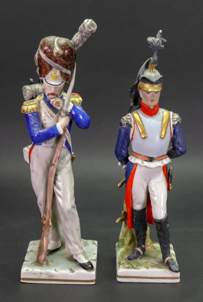 Lot 46 - A 'Naples' porcelain Napoleonic figure of an officer, second half 20th century,