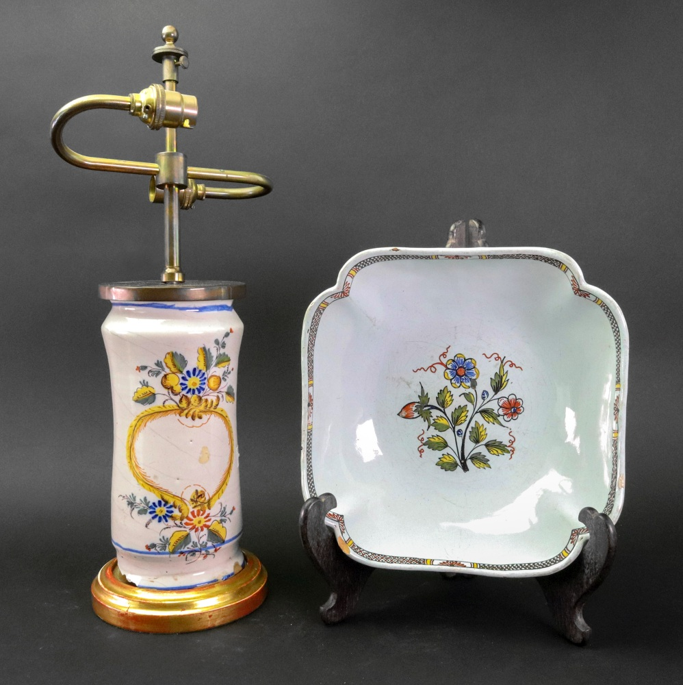 Lot 9 - A group of French faience, 18th/19th century,