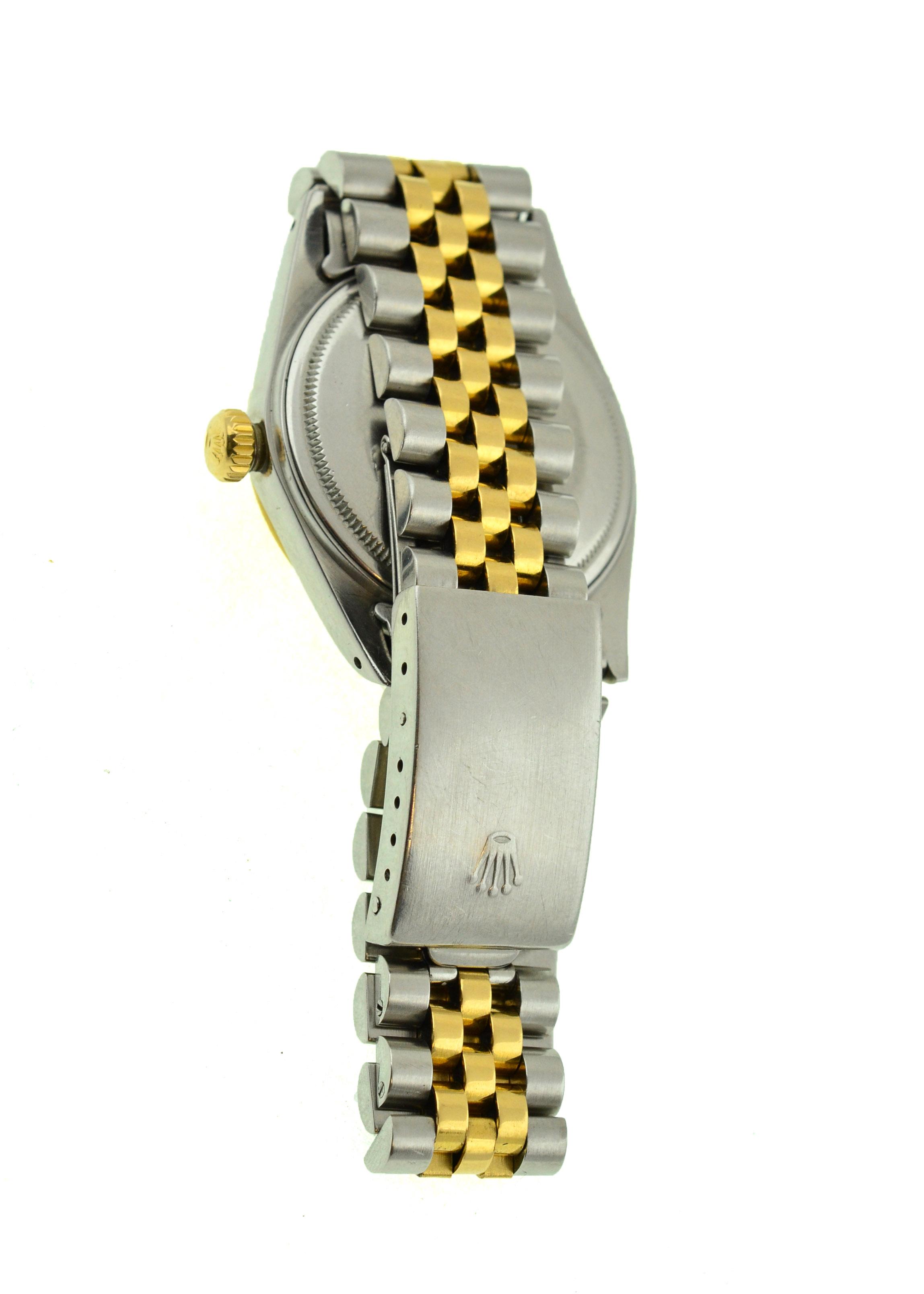 Lot 3 - ROLEX - A gents bi-metal Rolex Oyster Perpetual Datejust,