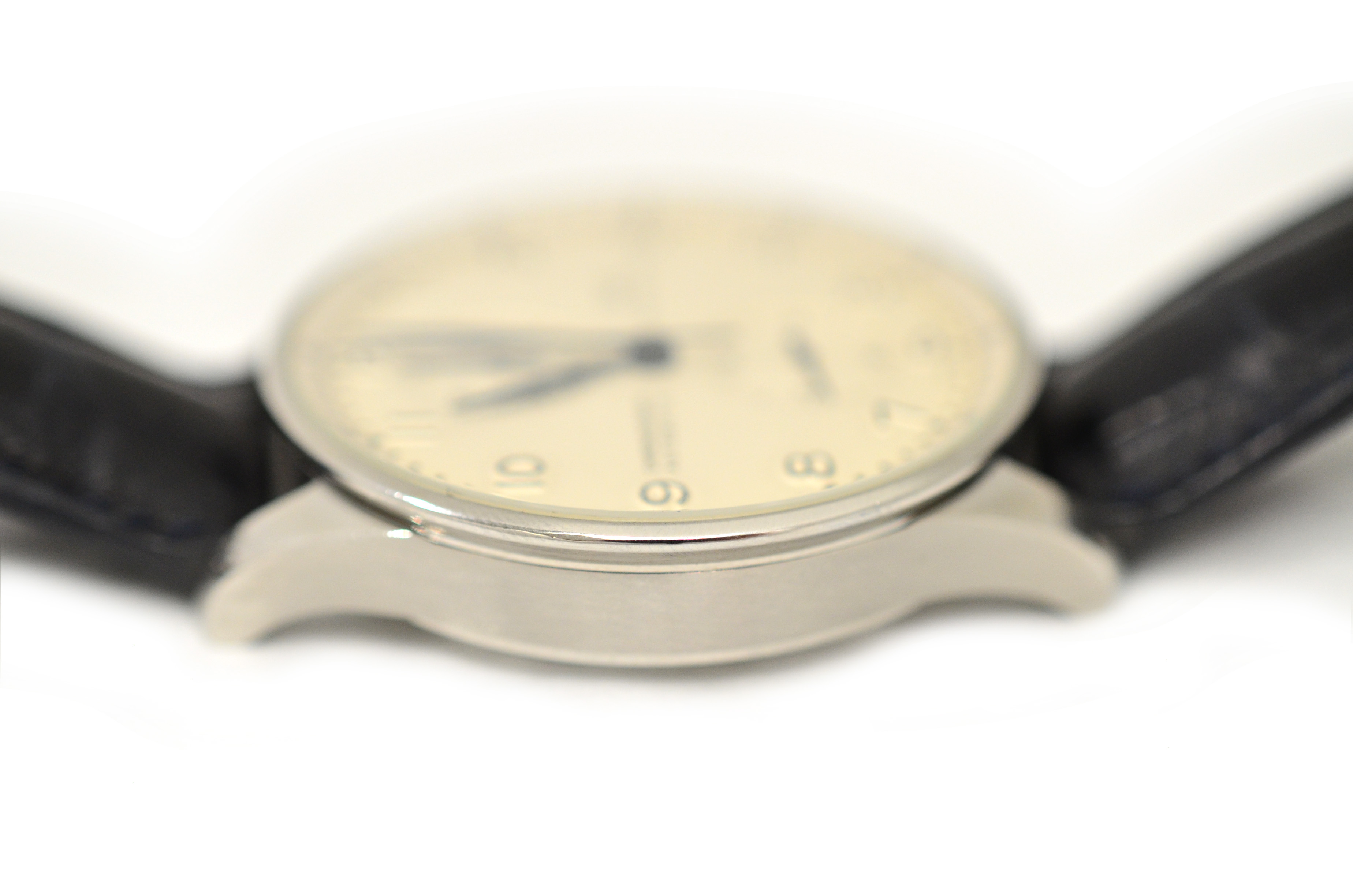 Lot 38 - IWC - A gents stainless steel Automatic IWC Portuguese Chronograph wristwatch, model IW371446,