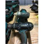 MAKITA 18-VOLT CORDLESS COMBO SET; DRILL, IMPACT WRENCH, AND CHARGER