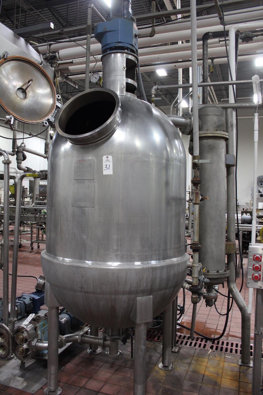 Hamilton 200 Gallon Jacketed Vacuum Scrape Surface Cooking Kettle, D   Subj to Bulk   Rig Fee: $450