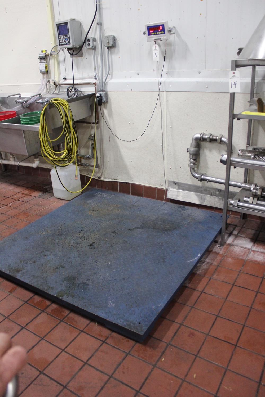 "Lot 15 - Optima 5,000 lb. Platform Scale, 59"" X 59"" Platform | Rig Fee: $75"
