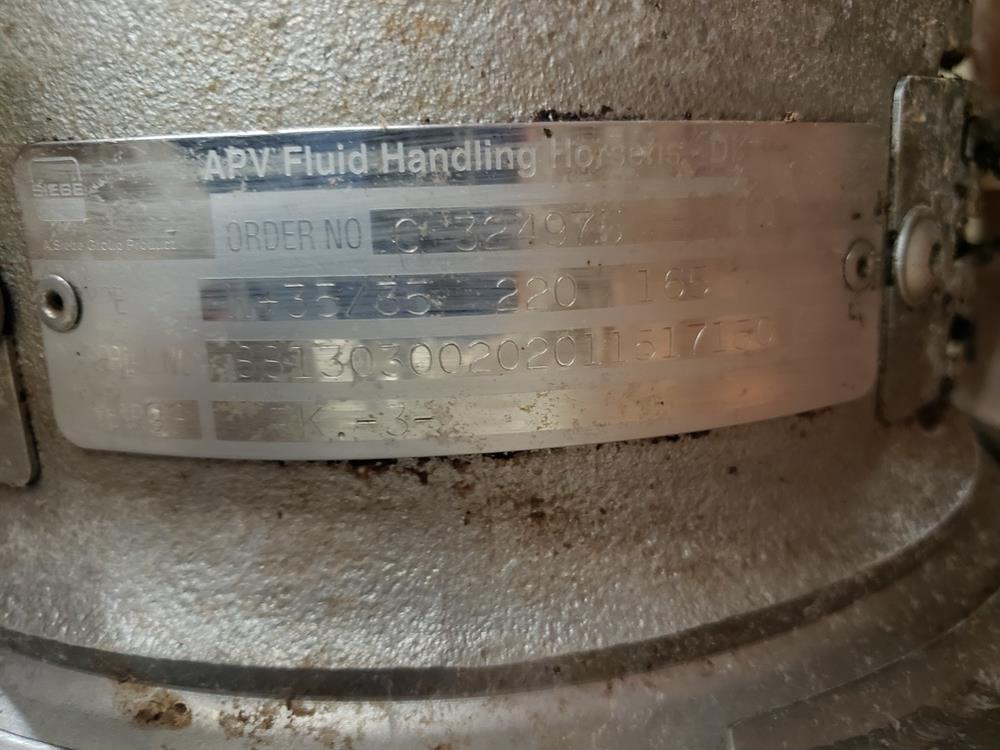 Lot 40 - APV Stainless Steel Sanitary Centrifugal Pump   Subj to Bulk   Rig Fee: $75