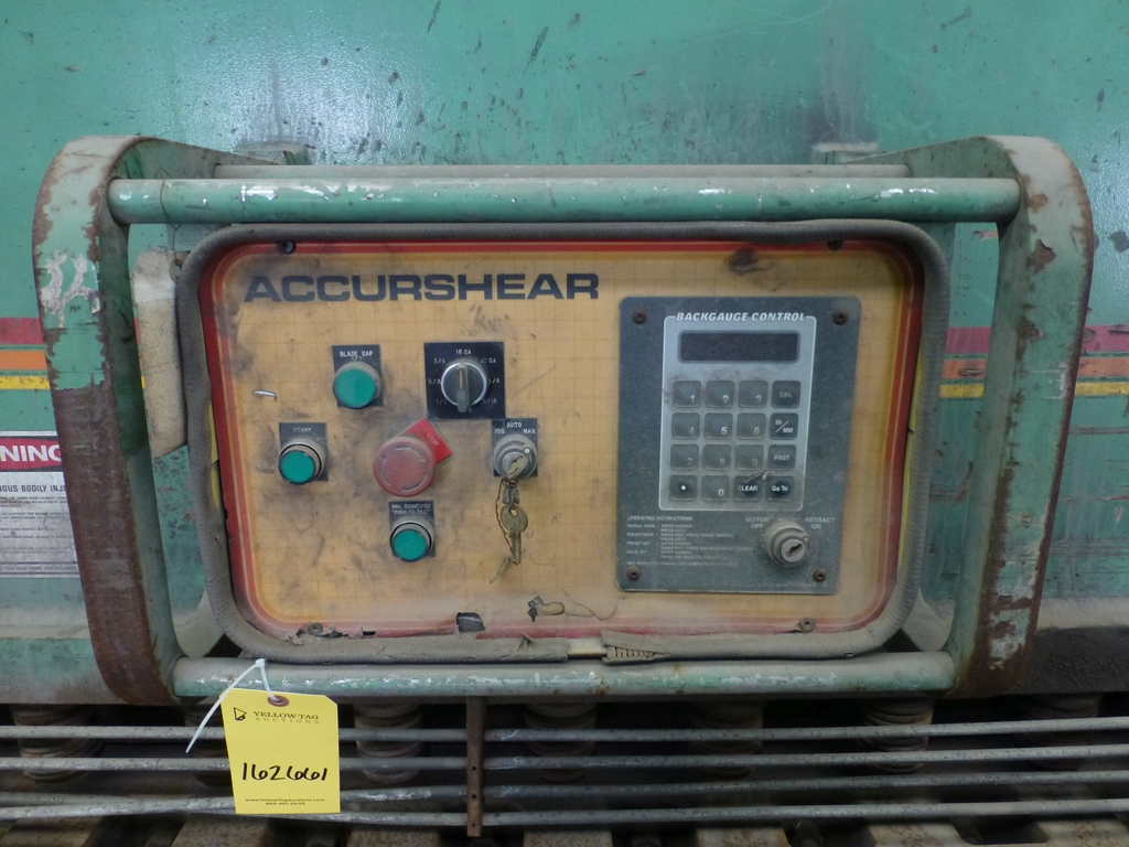 "1996 Accurshear 14' x 3/4"" Hydraulic Shear