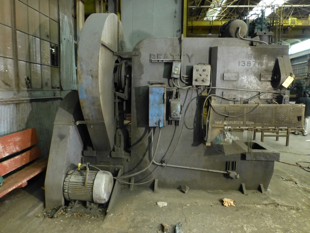 "Beatty 425 Ton Mechanical C-Frame Press|Model No. 12; S/N: 20130; 21"" x 34 1/2"" Bed"