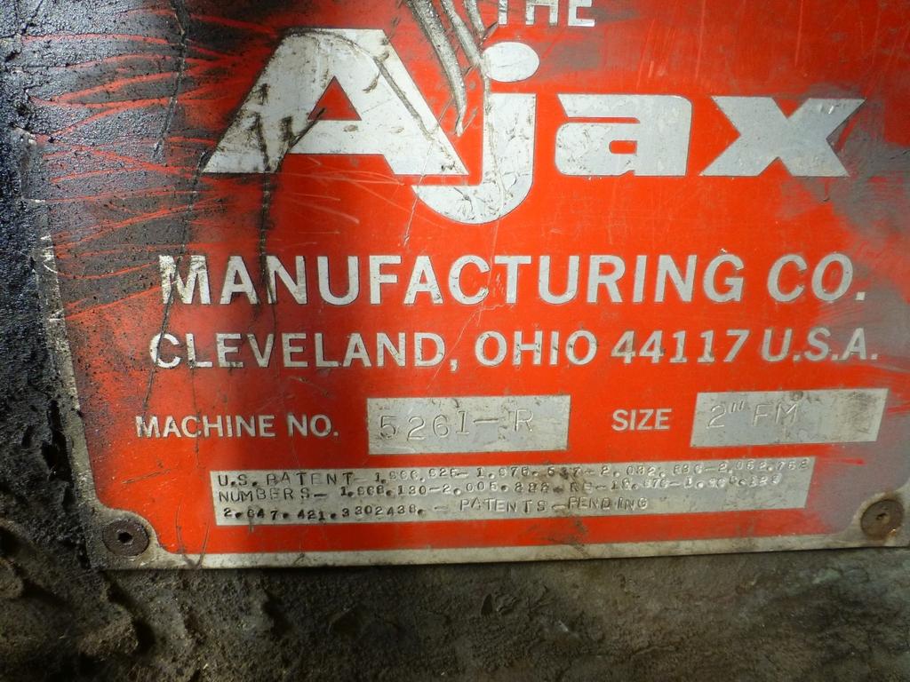 "Ajax 2"" Upsetter Machine No. 5261-R; 9 1/2"" Stroke; 3 1/2"" Gather - Image 22 of 22"