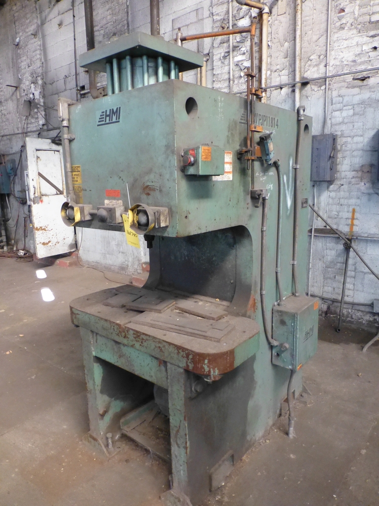 "HMI 150 Ton Hydraulic Press|Model PJP11814 S/N:101-47-138; 14"" Throat"
