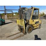 "Hyster Diesel Forklift|6,100 lb Capacity; Model: H60XL S/N:B177803236L 177"" Lift; Cab Heater; Side"