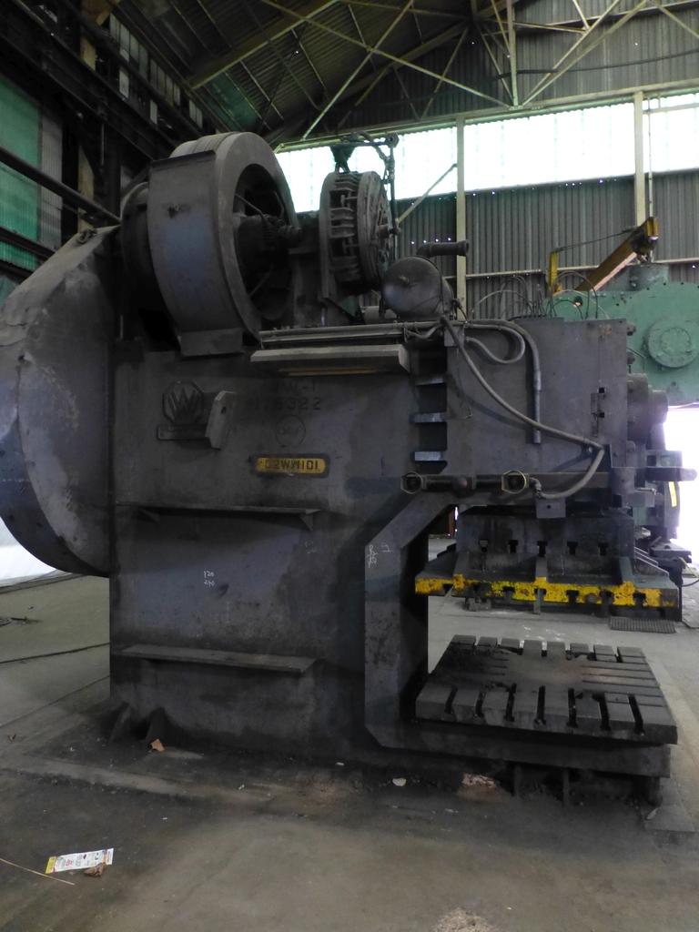 "Williams White Mechanical 500 Ton C-Frame Punch 50"" x 55"" Platen; S/N C-3848"