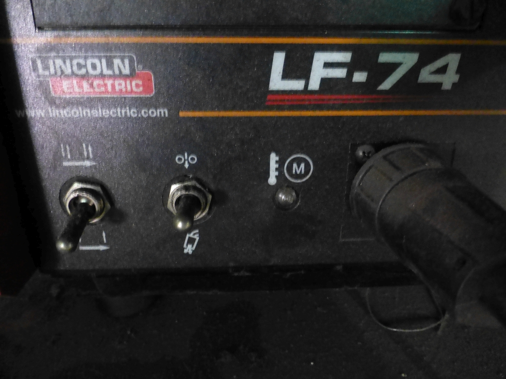 Lincoln Idealarc DC 600 Multi-Process Welder With LF-74 Wire Feed - Image 11 of 12