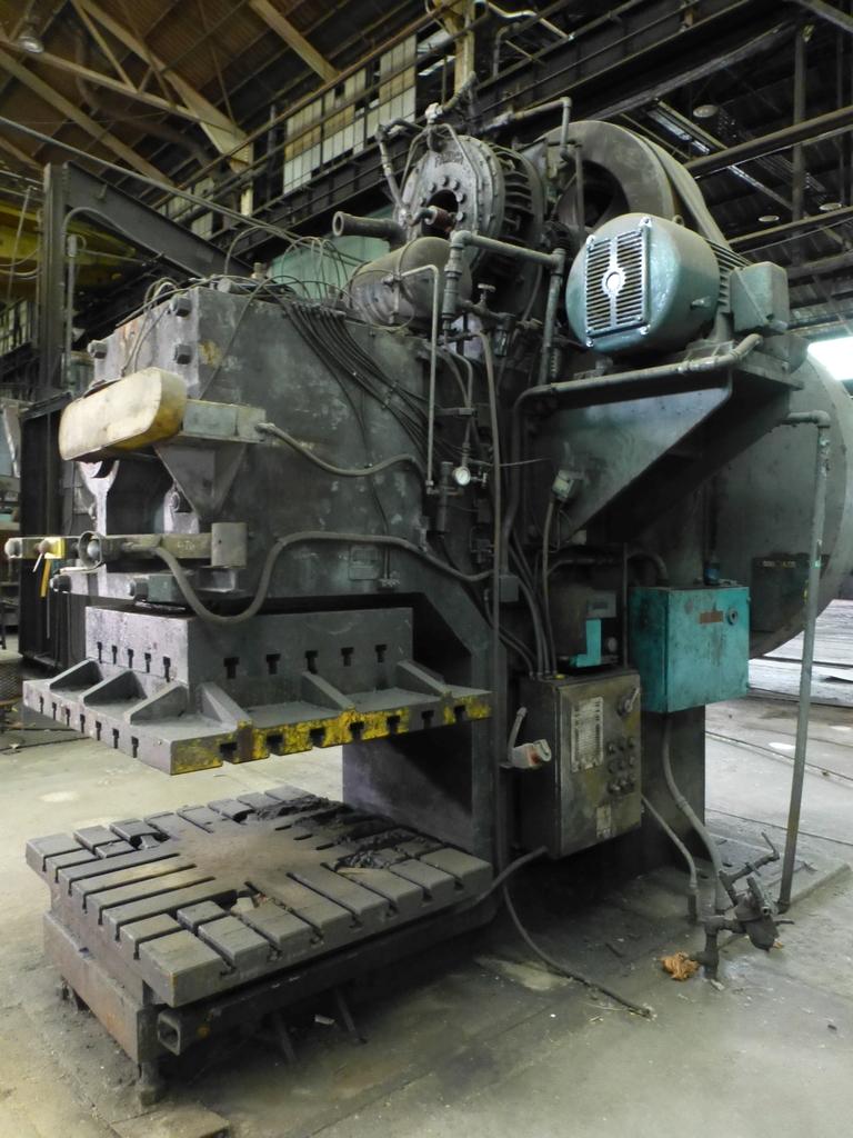 "Williams White Mechanical 500 Ton C-Frame Punch 50"" x 55"" Platen; S/N C-3848 - Image 2 of 10"