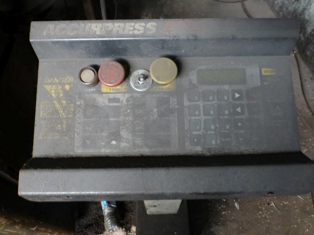Acuurpress 8' x 130 Ton Hydrualic Press Brake|Model No. 71308; Pedestal Control; S/N 4896; - Image 5 of 8