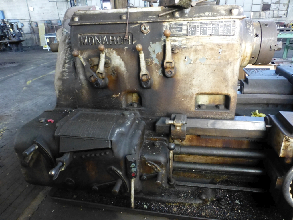 """Monarch 40"""" x 204"""" Engine Lathe Model No. 32NN; With Taper Attachment; 40"""" Actual Swing; 12"""" 3-Jaw - Image 3 of 19"""