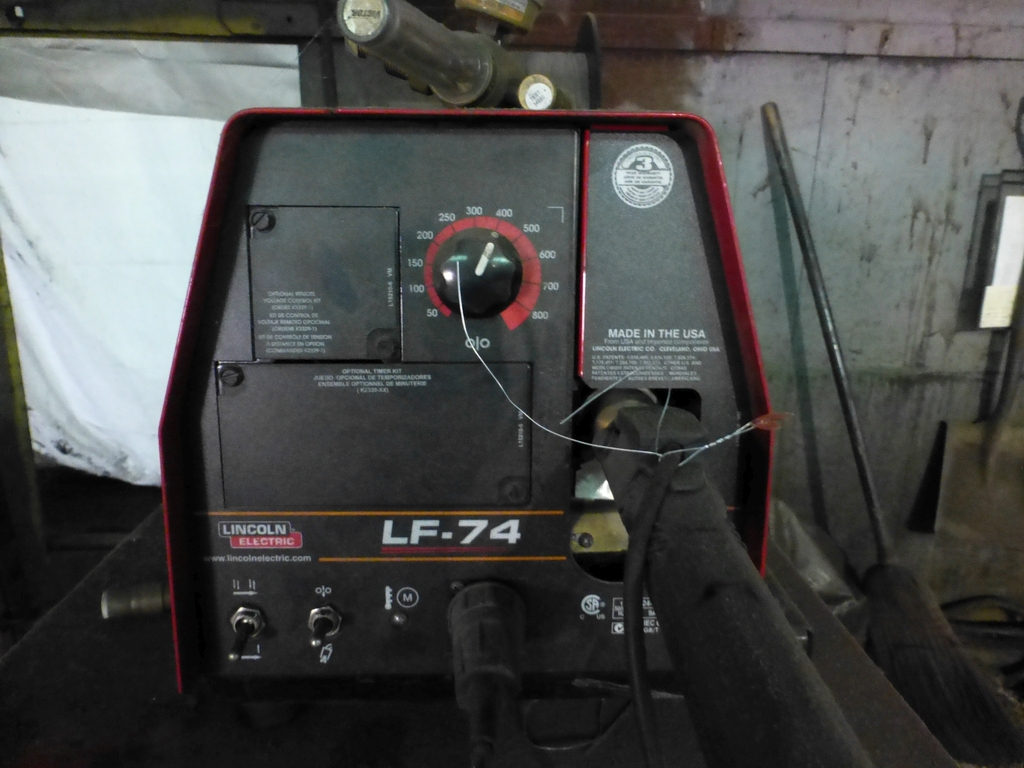 Lincoln Idealarc DC 600 Multi-Process Welder With LF-74 Wire Feed - Image 9 of 12