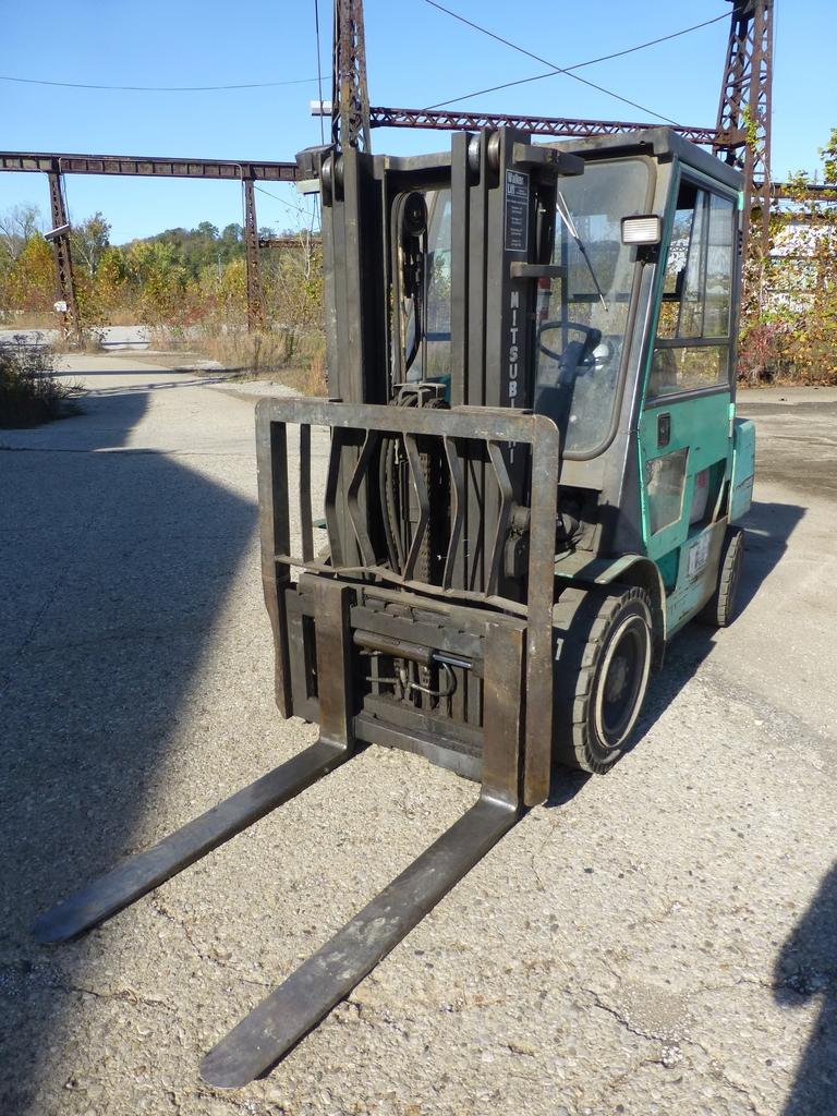 """Mitsubishi Diesel Forklift 6,000 lb Capacity: Model No. FD30 S/N AF14C-30247; 171"""" Lift; 48"""""""