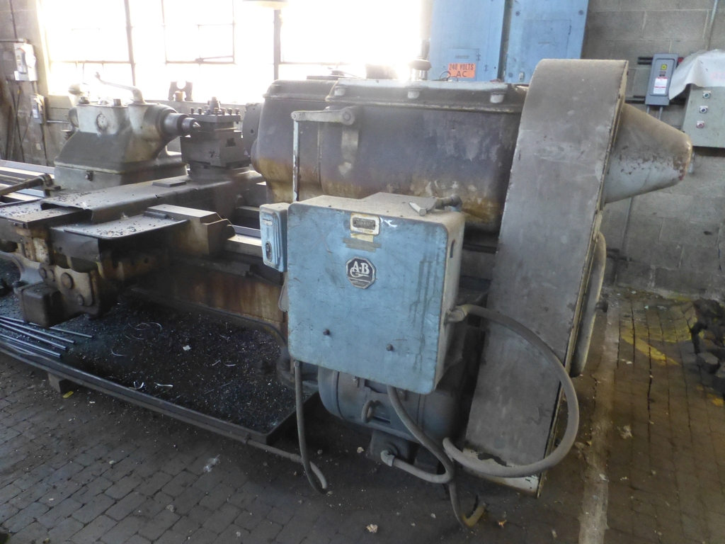 """Monarch 40"""" x 204"""" Engine Lathe Model No. 32NN; With Taper Attachment; 40"""" Actual Swing; 12"""" 3-Jaw - Image 2 of 19"""