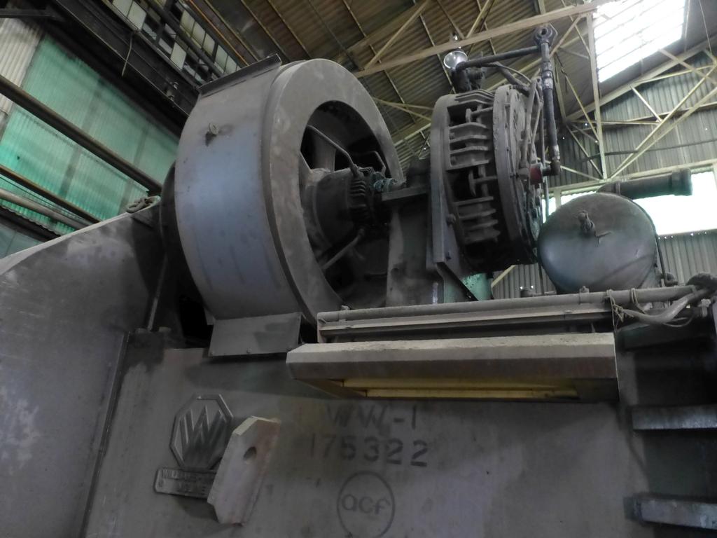 "Williams White Mechanical 500 Ton C-Frame Punch 50"" x 55"" Platen; S/N C-3848 - Image 9 of 10"