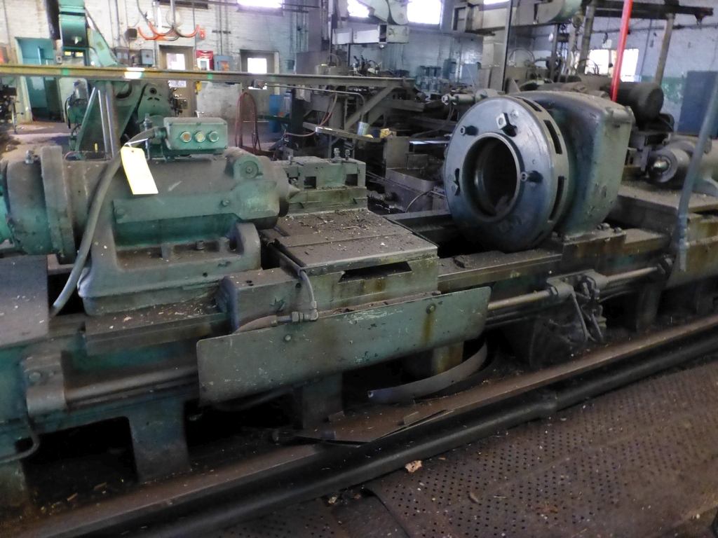 Betts Twin Carriage Center Drive Axle Lathe