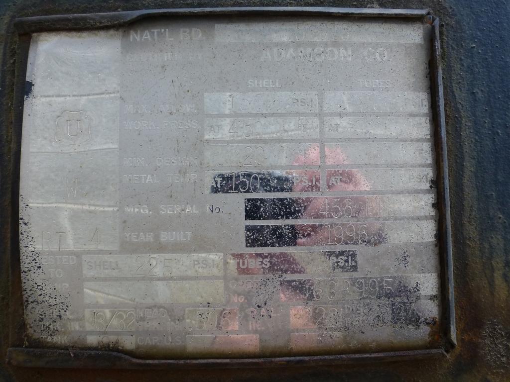 Adamson Air Storage Tank|Max Pressure: 150 PSI; Nat'l Board No. 53613; Approx. 7' Dameter x 16' - Image 7 of 7