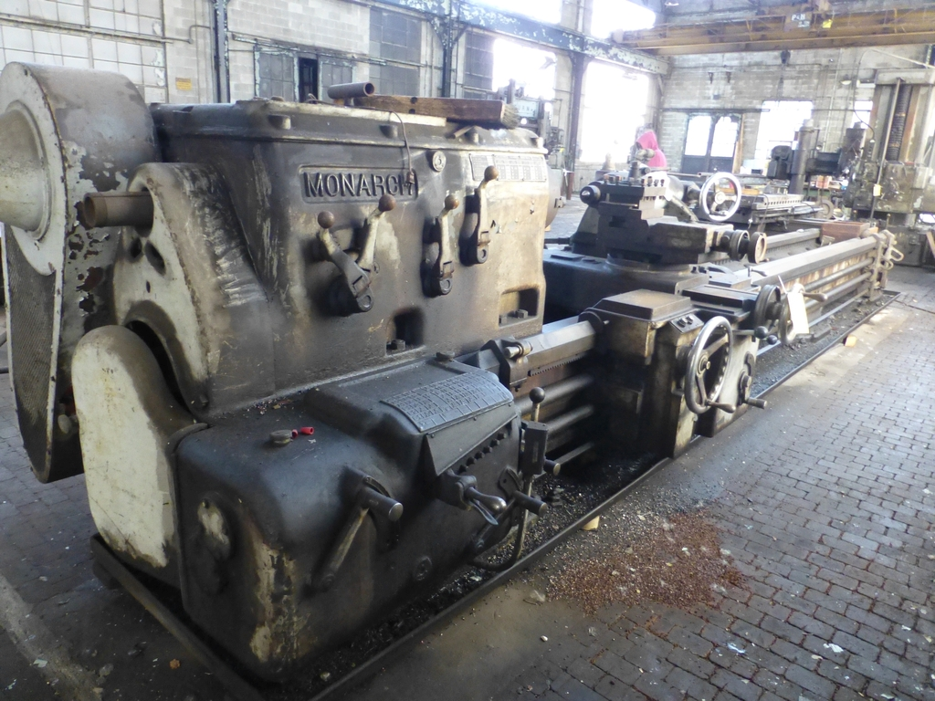 """Monarch 40"""" x 204"""" Engine Lathe Model No. 32NN; With Taper Attachment; 40"""" Actual Swing; 12"""" 3-Jaw"""