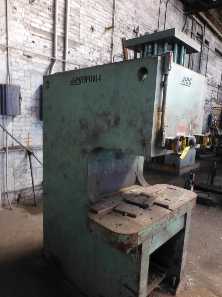 "HMI 150 Ton Hydraulic Press|Model PJP11814 S/N:101-47-138; 14"" Throat - Image 3 of 8"