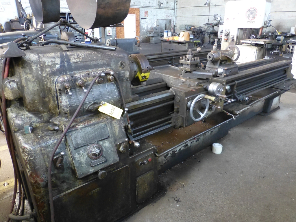 """Monarch 16"""" x 102"""" Engine Lathe With Taper Attachment; 10"""" 3-Jaw Chuck; 19-800 RPM; S/N 43077"""