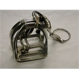 Lot 40 - 2 Pairs of stainless steel stirrup irons,