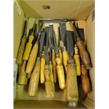 Lot 105 - Box of carpenters chisels
