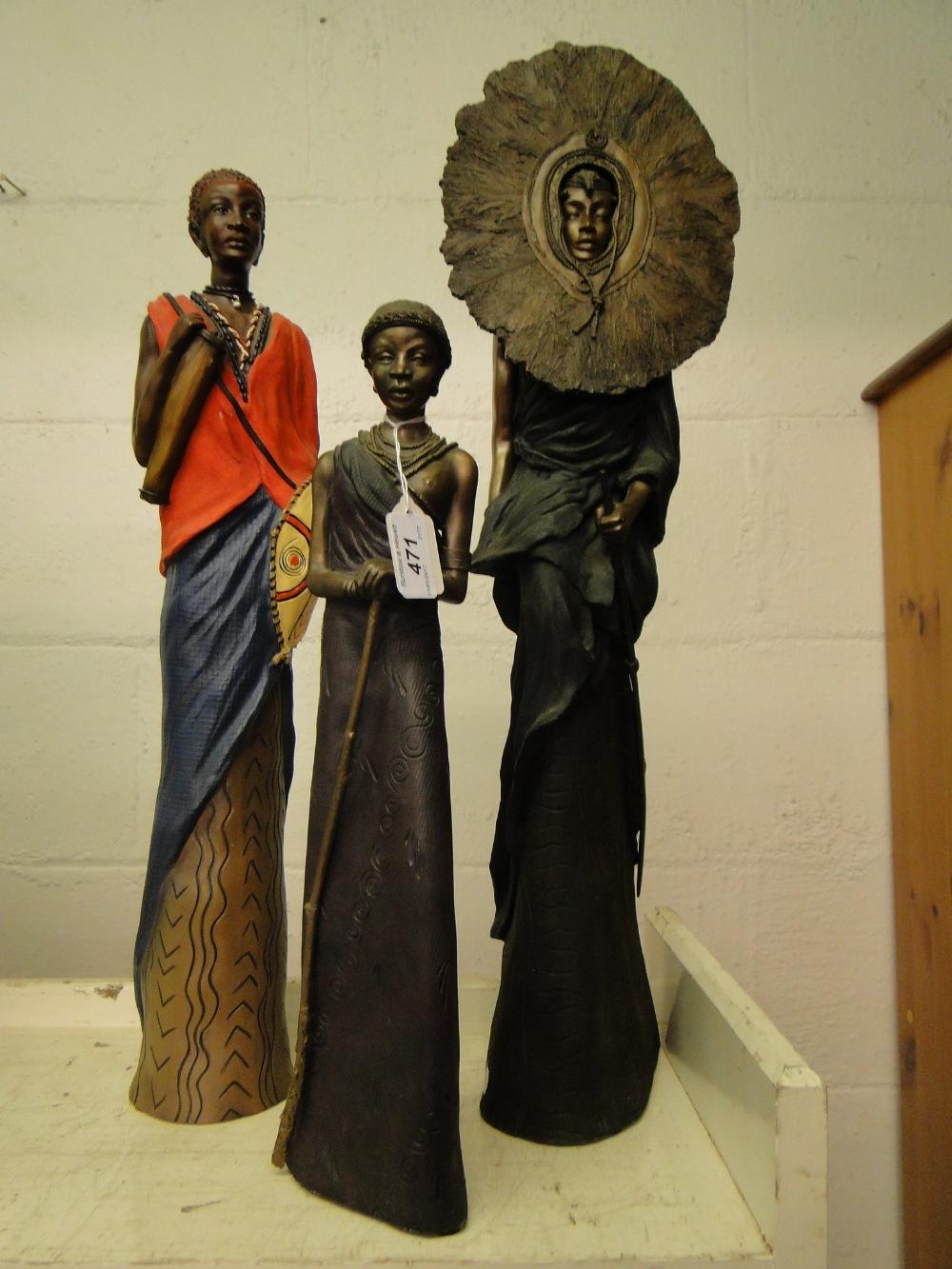 Lot 471 - 3 Soul Journeys Maasai figures