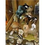 Lot 419 - Wade Old English sheepdog, Beswick foals & bluetit, Poole bird, seal & dolphin,