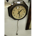 Lot 131 - A Smith Sectric Bakelite cased wall clock