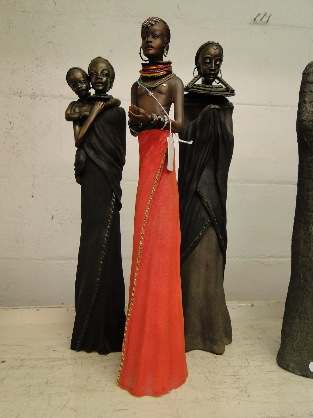 Lot 473 - 3 Soul Journeys Maasai figures